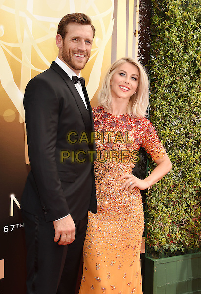 LOS ANGELES, CA - SEPTEMBER 12: NHL player Brooks Laich (L) and actress/dancer Julianne Hough attend the 2015 Creative Arts Emmy Awards at Microsoft Theater on September 12, 2015 in Los Angeles, California.<br /> CAP/ROT/TM<br /> &copy;TM/ROT/Capital Pictures