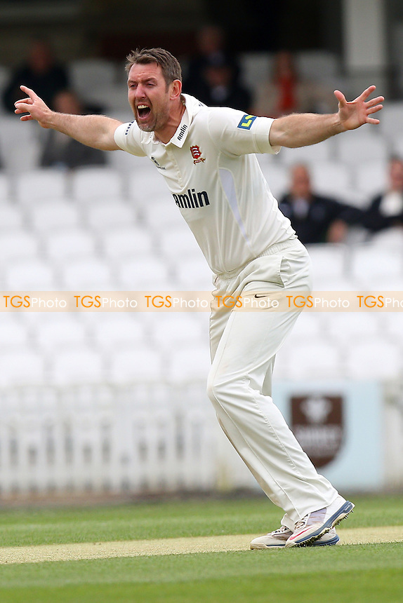 David Masters of Essex with an appeal for the wicket of Zafar Ansari - Surrey CCC vs Essex CCC - LV County Championship Division Two Cricket at the Kia Oval, Kennington, London - 26/04/15 - MANDATORY CREDIT: Gavin Ellis/TGSPHOTO - Self billing applies where appropriate - contact@tgsphoto.co.uk - NO UNPAID USE