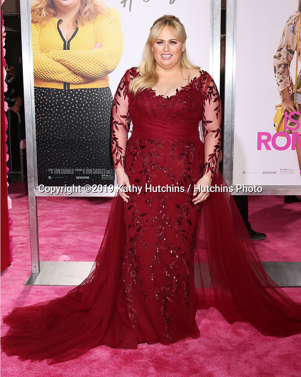 """LOS ANGELES - FEB 11:  Rebel WIlson at the """"Isn't It Romantic"""" World Premiere at the Theatre at Ace Hotel on February 11, 2019 in Los Angeles, CA"""