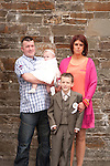 Eoghan Sharkey with Mam Lisa sister Emily and Mattie O Brien<br /> Picture: Sinead O'Neill / www.newsfile.ie