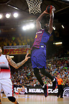 League ACB-ENDESA 201/2019.Game 38.<br /> PlayOff Semifinals.1st match.<br /> FC Barcelona Lassa vs Tecnyconta Zaragoza: 101-59.<br /> Chris Singleton.