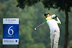 Chaiwat Poolsombut of Thailand tees off during the 2011 Faldo Series Asia Grand Final on the Faldo Course at Mission Hills Golf Club in Shenzhen, China. Photo by Raf Sanchez / Faldo Series