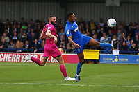 Terell Thomas of AFC Wimbledon and Aaron Wilbraham of Rochdale AFC during AFC Wimbledon vs Rochdale, Sky Bet EFL League 1 Football at the Cherry Red Records Stadium on 5th October 2019