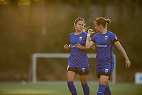 Seattle, WA - April 15th, 2017: Lauren Barnes and Christine Nairn during a regular season National Women's Soccer League (NWSL) match between the Seattle Reign FC and Sky Blue FC at Memorial Stadium.