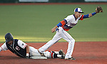Bishop Gorman's Tyler Baker gets Coronado's Julian Burrola out in the state championship baseball game at the University of Nevada, Reno, in Reno, Nev., on Saturday, May 19, 2012. Gorman won 11-1 for their seventh-straight NIAA 4A title..Photo by Cathleen Allison