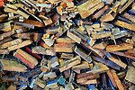 Colorful wood scraps.