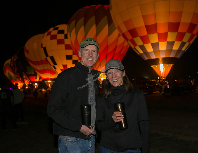Joe and Tricia during dawn patrol at the Great Reno Balloon Races held on Saturday, Sept. 8, 2018.