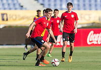 BARRANQUILLA, COLOMBIA - March 24, 2016: The US U-23 Men's National team training day for Colombia match in Barranquilla, Colombia.