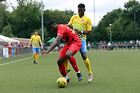 Dejuane Taylor of Harlow Town and Shadrach Ogie of Leyton Orient during Harlow Town vs Leyton Orient, Friendly Match Football at The Harlow Arena on 6th July 2019