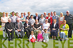 GOLDEN ANNIVERSARY: Denis and Betty O'Connor, Lissereen, Abbeydorney (seated 3rd & 4th left) enjoying a great time celebrating their Golden Wedding anniversary with family and friends at the Ballyroe Heights hotel on Sunday.