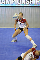 14 December 2006: Stanford Cardinal Bryn Kehoe during Stanford's 30-12, 30-25, 30-15 win against the Washington Huskies in the 2006 NCAA Division I Women's Volleyball Final Four semifinal match at the Qwest Center in Omaha, NE.