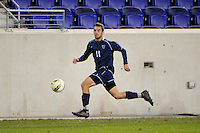 Ryan Whalen (11) of the Villanova Wildcats. St. John's defeated Villanova 2-0 during the second semifinal match of the Big East Men's Soccer Championships at Red Bull Arena in Harrison, NJ, on November 11, 2011.