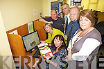 E-LEARNING: Martina Daly, Noirin O'Keeffe, Bernard MacBradaigh, County Librarian Tommy O'Connor, Kevin Fay (Facilitator for the Project) and Therese O'Connor (FAS Dublin).