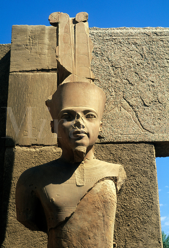 Ancient ruins of kings at the Temple of Karnak in Luxor Egypt