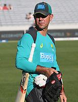 Ricky Ponting.<br /> New Zealand Black Caps v Australia.Tri-Series International Twenty20 cricket. Eden Park, Auckland, New Zealand. Friday 16 February 2018. &copy; Copyright Photo: Andrew Cornaga / www.Photosport.nz