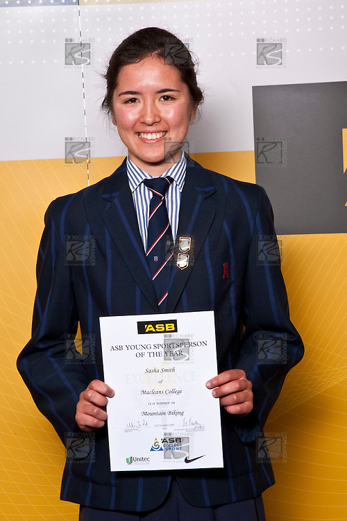 Girls Mountain Biking winner Sasha Smith from Macleans College. ASB College Sport Auckland Secondary School Young Sports Person of the Year Awards held at Eden Park on Thursday 12th of September 2009.