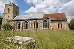 Village parish church of Saint Mary, Wetherden, Suffolk, England, UK