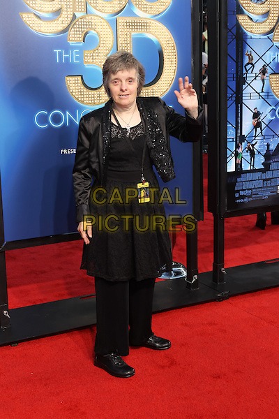 JEAN SYLVESTER.The 20th Century Fox 'Glee 3D' Concert World Movie Premiere held at The Regency Village theatre in Westwood, California, USA,.August 6th 2011..full length dress jacket trousers black .CAP/CEL.©CEL/Capital Pictures