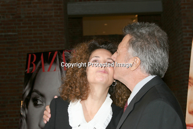 Dustin Hoffman &amp; wife  Lisa Gottsegen <br />Miramax Films Presents &quot;Finding Neverland&quot; Premiere Sponsored by Coors Light and <br />Harper's Bazaar<br />The Brooklyn Museum<br />Brooklyn, N Y, USA<br />Monday, October 25, 2004<br />Photo By Selma Fonseca/Celebrityvibe.com/Photovibe.com, <br />New York, USA, <br />Phone 212 410 5354, email:sales@celebrityvibe.com