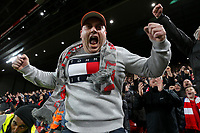 Liverpool fans celebrate<br /> <br /> Photographer Alex Dodd/CameraSport<br /> <br /> Emirates FA Cup Third Round - Liverpool v Everton - Sunday 5th January 2020 - Anfield - Liverpool<br />  <br /> World Copyright © 2020 CameraSport. All rights reserved. 43 Linden Ave. Countesthorpe. Leicester. England. LE8 5PG - Tel: +44 (0) 116 277 4147 - admin@camerasport.com - www.camerasport.com