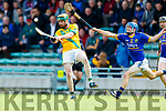 Kieran O'Regan Kilmoyley in action against Brian McAuliffe Lixnaw in the Kerry County Senior Hurling championship Final between Kilmoyley and Lixnaw at Austin Stack Park on Sunday.