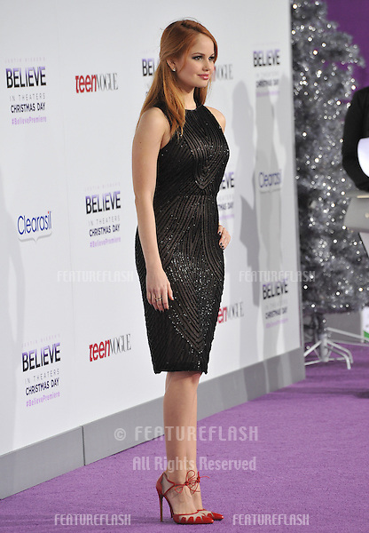 Debby Ryan at the world premiere of &quot;Justin Bieber's Believe&quot; at the Regal Cinemas LA Live.<br /> December 18, 2013  Los Angeles, CA<br /> Picture: Paul Smith / Featureflash