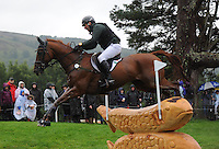 Blair Atholl, Scotland, UK. 12th September, 2015. Longines  FEI European Eventing Championships 2015, Blair Castle.Michael Ryan (IRL) riding Ballylynch Adventure  during the Cross country phase © Julie Priestley