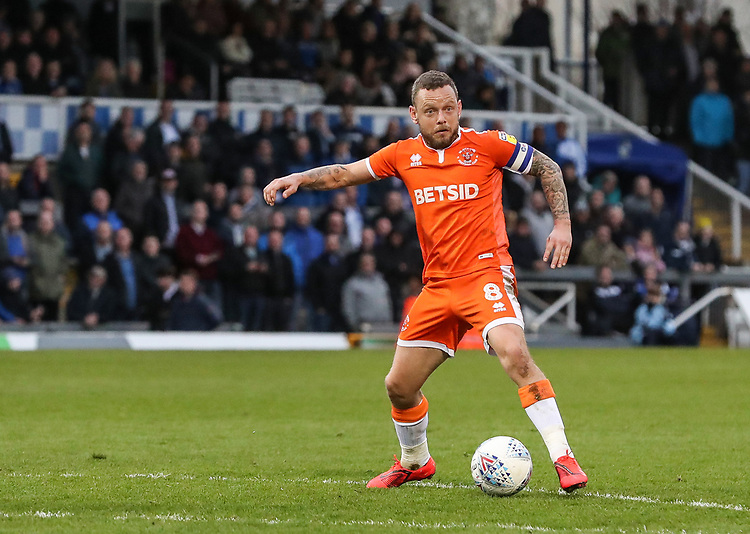 Blackpool's Jay Spearing <br /> <br /> Photographer Andrew Kearns/CameraSport<br /> <br /> The EFL Sky Bet League Two - Bristol Rovers v Blackpool - Saturday 2nd March 2019 - Memorial Stadium - Bristol<br /> <br /> World Copyright © 2019 CameraSport. All rights reserved. 43 Linden Ave. Countesthorpe. Leicester. England. LE8 5PG - Tel: +44 (0) 116 277 4147 - admin@camerasport.com - www.camerasport.com