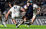 16.03.2019 Guinness Six Nations International Rugby England Vs Scotland at RFU Twickenham Stadium UK<br /> Darcy Graham runs on and scores a try for Scotland The match was tied 38-38