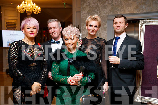 Dorita Kozkiewicz, Sean and Edyta Hurley, Nickola and Tomasz Michalska at the Black Tie ball at the Rose Hotel, Tralee on New Years Eve.