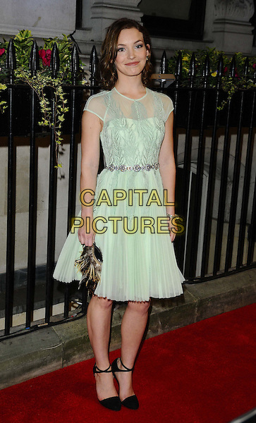Perdita Weeks<br /> The Luminous BFI gala dinner &amp; auction, 8 Northumberland Avenue, Northumberland Avenue, London, England.<br /> October 8th, 2013<br /> full length dress  green sheer silver belt <br /> CAP/CAN<br /> &copy;Can Nguyen/Capital Pictures