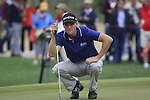 Martin Kaymer lines up his putt on the 10th green during Day 2 Friday of the Abu Dhabi HSBC Golf Championship, 21st January 2011..(Picture Eoin Clarke/www.golffile.ie)