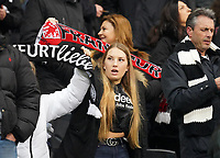 Fan bauchfrei trotz Winter - 18.12.2019: Eintracht Frankfurt vs. 1. FC Koeln, Commerzbank Arena, 16. Spieltag<br /> DISCLAIMER: DFL regulations prohibit any use of photographs as image sequences and/or quasi-video.
