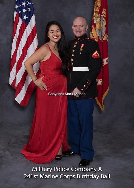 Eric Wallingford at the Military Police Company A 241 Marine Corps Birthday Ball, Saturday Nov. 19, 2016  in Lexington, Ky. Photo by Mark Mahan