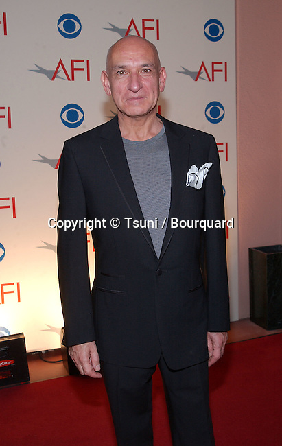 Actor Ben Kingsley arrives at the inaugural AFI Awards 2001 presented by the American Film Institute, held at the Beverly Hills Hotel in Los Angeles, CA., Sat., Jan. 5, 2001.            -            KingsleyBen002.jpg