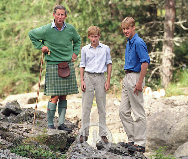 THE PRINCE OF WALES AND PRINCES WILLIAM & HARRY ATTEND A PHOTOCALL AT BALMORAL..PICTURE: UK PRESS