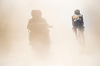 Koen Bouwman (NED/Jumbo-Visma) caught in the dust<br /> <br /> 14th Strade Bianche 2020<br /> Siena > Siena: 184km (ITALY)<br /> <br /> delayed 2020 (summer!) edition because of the Covid19 pandemic > 1st post-Covid19 World Tour race after all races worldwide were cancelled in march 2020 by the UCI