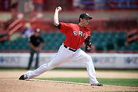 Erie SeaWolves relief pitcher Sean Donatello (49) delivers a pitch during a game against the Reading Fightin Phils on May 18, 2017 at UPMC Park in Erie, Pennsylvania.  Reading defeated Erie 8-3.  (Mike Janes/Four Seam Images)