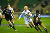 Michaela Staniford of England Women in action during the test match between England Women and the Black Ferns at Twickenham on Saturday 01 December 2012 (Photo by Rob Munro)