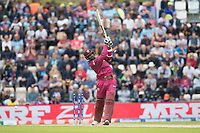 Shannon Gabriel (West Indies) is bowled by Mark Wood (England) to bring the innings to a close during England vs West Indies, ICC World Cup Cricket at the Hampshire Bowl on 14th June 2019