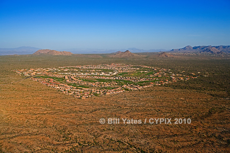 Legend Trail Golf Course Desert Ranch Arizona helicopter aerial