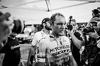 European Champion Matteo Trentin (ITA/Mitchelton-Scott) wins stage 17, the 4th stage win by his Mitchelton-Scott team<br /> <br /> Stage 17: Pont du Gard to Gap (206km)<br /> 106th Tour de France 2019 (2.UWT)<br /> <br /> ©kramon