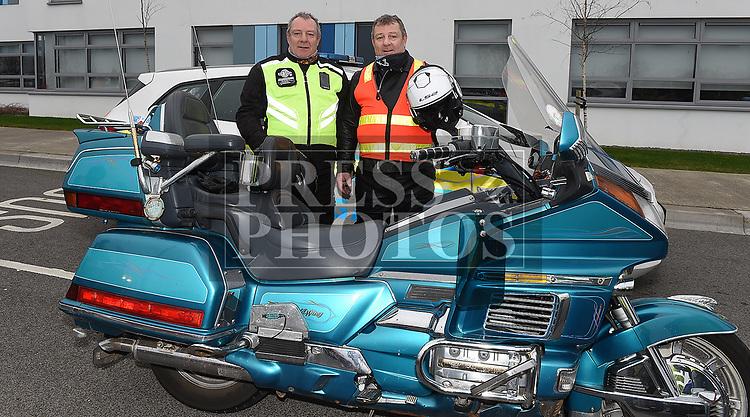 Twins Ciaran and Martin Byrne were marshals at the Duleek Parish annual spotive cycle inn aid of Duleek National School. Photo:Colin Bell/pressphotos.ie