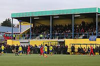 A general view of the main stand as a record crowd of 1133 is seen during Haringey Borough vs Leyton Orient, Buildbase FA Trophy Football at Coles Park Stadium on 16th December 2017