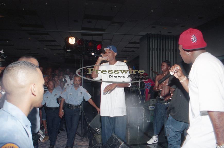 Rapper BG aka Baby Gangsta aka Christopher Dorsey in New Orleans, Louisiana August 1999.  Photo credit: Presswire News/Elgin Edmonds