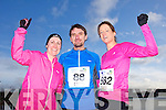 Deirdre Ryle, Mark Commane and Sarah Williams at the Valentines 10 mile road race in Tralee on Saturday.