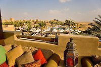 Dubai.  View over  Bab al Shams desert resort from rooftop bar and cafe..