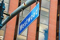 Westwood, Los Angeles, CA, Street Sign