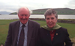 The late Conor Cruise O'Brien pictured  with his wife Maire Mac an tSaoi in Dingle, County Kerry for a political symposium a few years ago.<br /> Picture by Eamonn keogh / macmonagle, killarney
