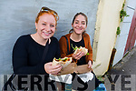 Rebecca Woulfe and Rianna Eckel, pictured at the Dingle Food Festival on Saturday afternoon last.